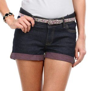 Vero Moda Dalli Denim Shorts Blue Purple Size 28